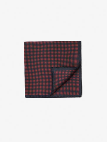 SILK MICRO-CHECKED POCKET SQUARE