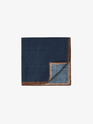 SILK/WOOL COLOURFUL DETAIL POCKET SQUARE