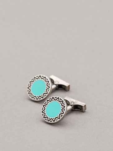 PERSONAL TAILORING TURQUOISE CUFFLINKS