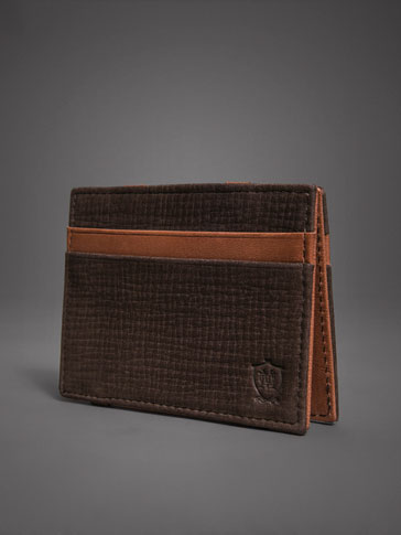 LIMITED EDITION CONTRAST SPLIT SUEDE MAGIC WALLET