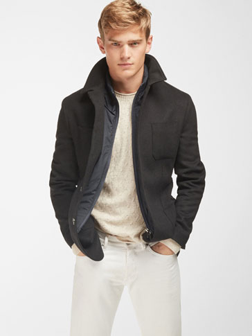 WOOL BLAZER WITH REMOVABLE WAISTCOAT