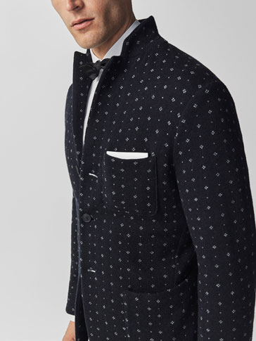 LIMITED EDITION MOTIFS KNIT BLAZER