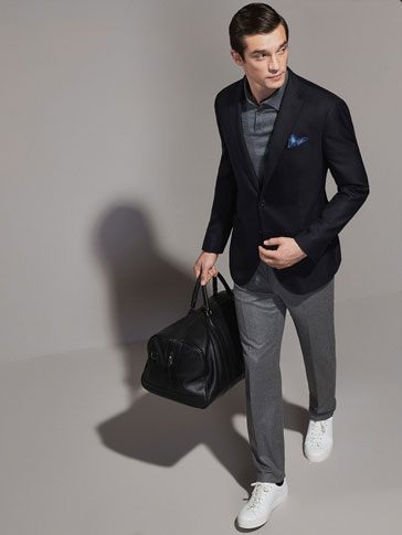 PERSONAL TAILORING NAVY BLUE TRAVELLING BLAZER
