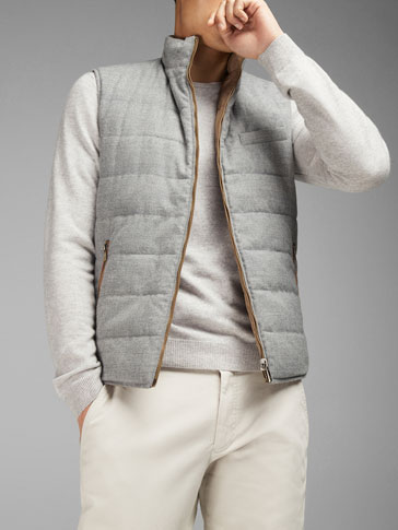 REVERSIBLE WOOL TECHNICAL WAISTCOAT