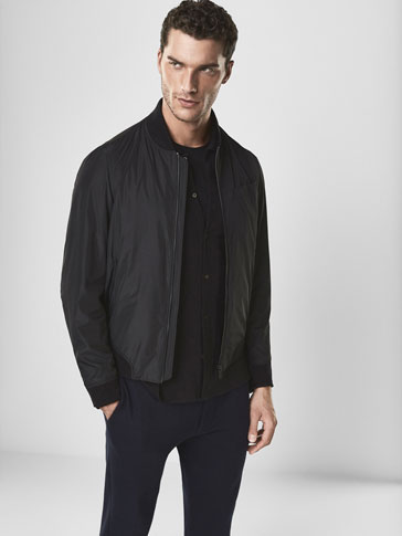 SOFT BOMBER-STYLE TECHNICAL JACKET