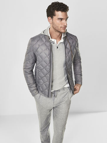 SOFT QUILTED FEATHER DOWN JACKET
