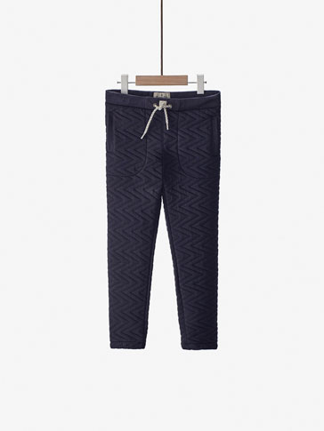 JOGGING STYLE TEXTURED TROUSERS