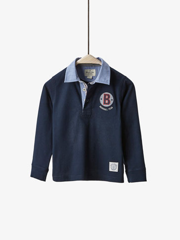 POLO SHIRT WITH PATCH DETAIL