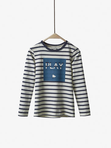 BASIC T-SHIRT WITH PLAY DETAIL