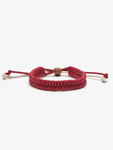 RED PLAITED BRACELET