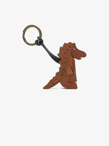 LEATHER DRAGON KEYRING