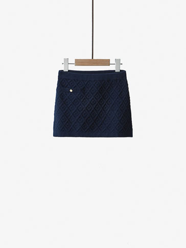 DIAMOND TEXTURED WEAVE SKIRT