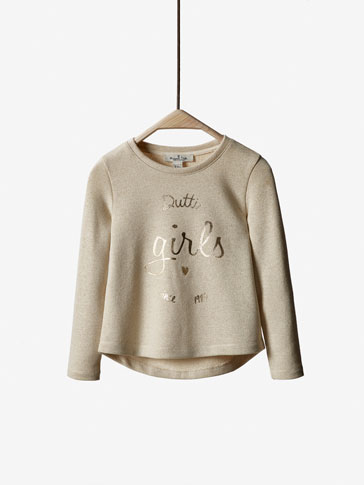 SWEATSHIRT WITH SHINY POSITIONAL DETAIL