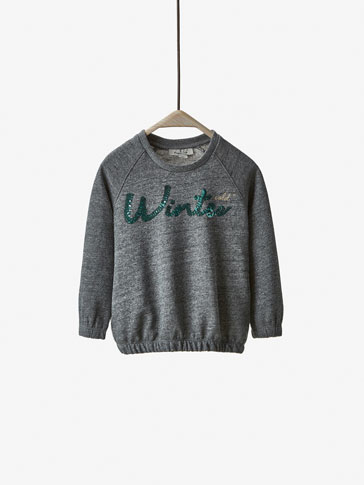 SEQUIN DETAIL SWEATSHIRT