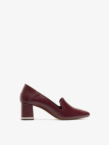 BURGUNDY HIGH HEEL BABOUCHES