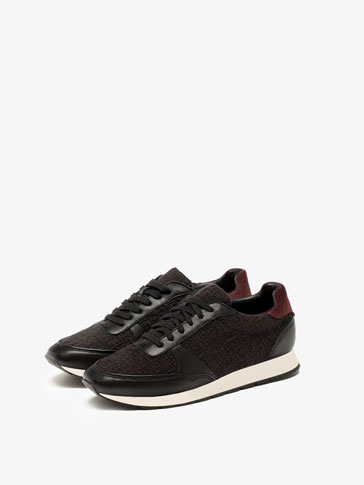 BLACK CONTRAST SNEAKERS
