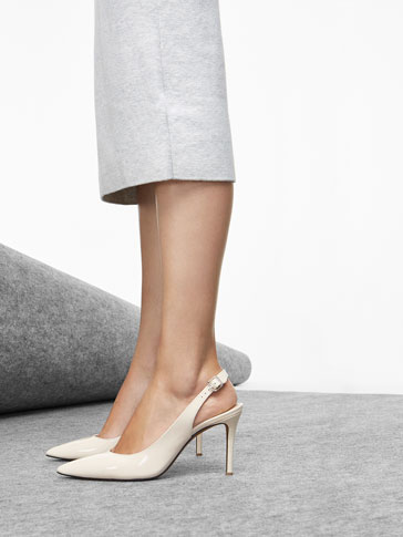 NUDE SLINGBACK SHOES