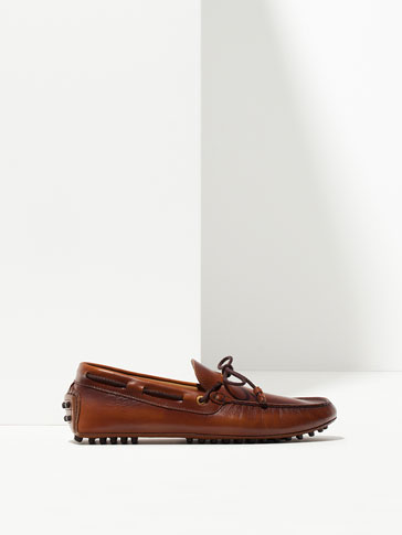 BRUSHED NAPPA LOAFERS