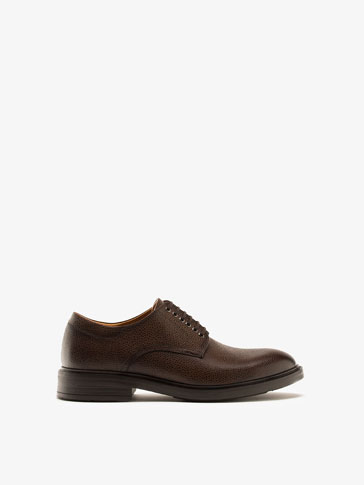 EMBOSSED LEATHER BLUCHERS