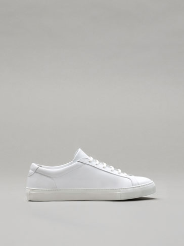 PERSONAL TAILORING WHITE LEATHER SNEAKERS