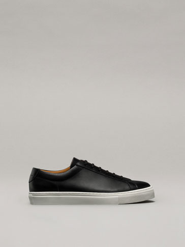 LEATHER PLIMSOLLS
