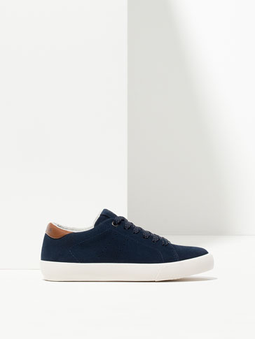 NAVY BLUE SUEDE SNEAKERS