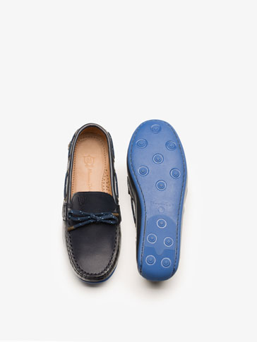 BLUE NAPPA MOCCASIN