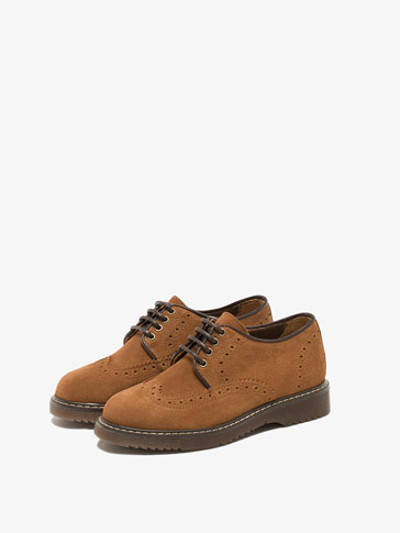 LEATHER BLUCHER