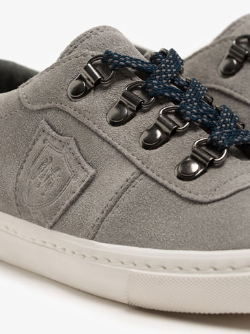 GREY SHIELD SNEAKERS
