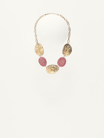 NECKLACE WITH GOLD-TONED CHARMS