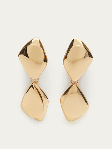 GOLD-TONED PIECE EARRINGS