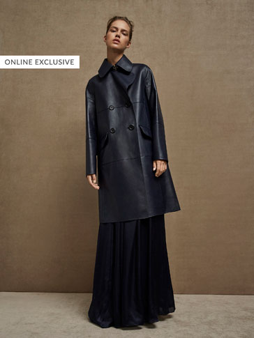 LIMITED EDITION TWO-TONE BONDED NAPPA TRENCH COAT
