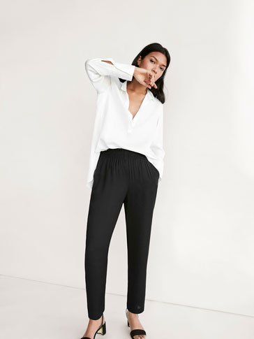 JOGGING-STYLE BLACK TROUSERS