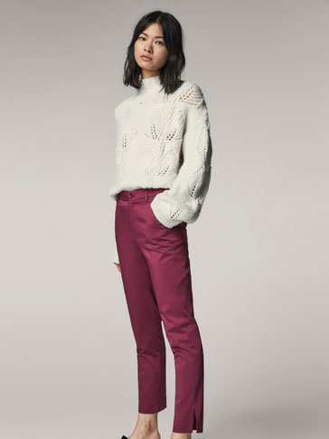 CHINO TROUSERS WITH SLITS DETAIL