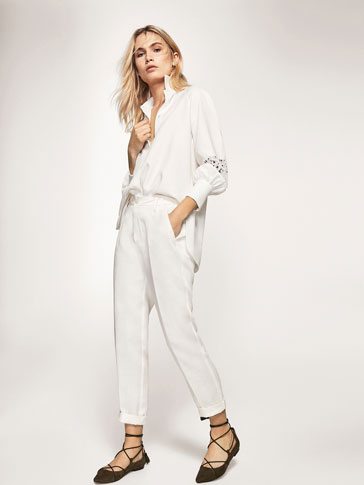 CHINO-STYLE LINEN TROUSERS