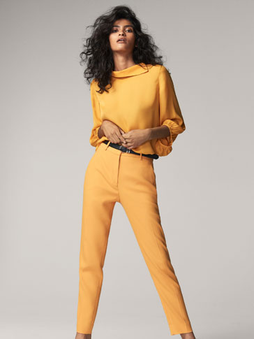 SOLID-COLOURED TROUSERS