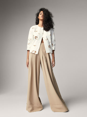 PLEATED CORSET-STYLE TROUSERS