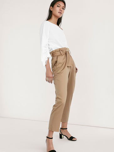 CHINO TROUSERS WITH RING DETAIL