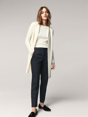 PLAIN CHINO-STYLE TROUSERS