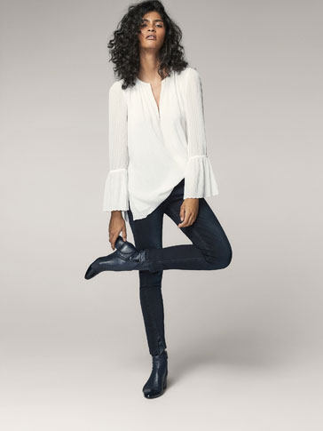 SKINNY JEANS WITH FRONT SEAM DETAIL