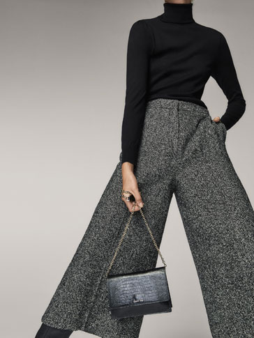 CULOTTE FIT WOOL BOUCLÉ TROUSERS