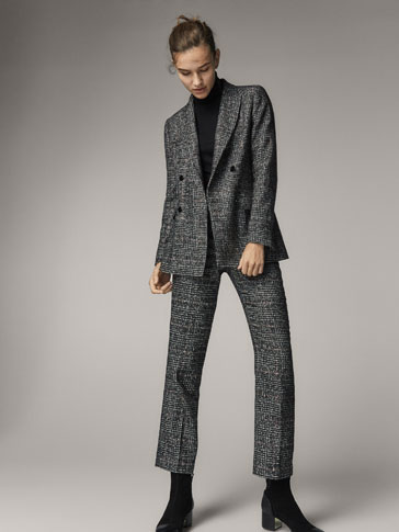 SLIM FIT EMBELLISHED WOOL SUIT TROUSERS
