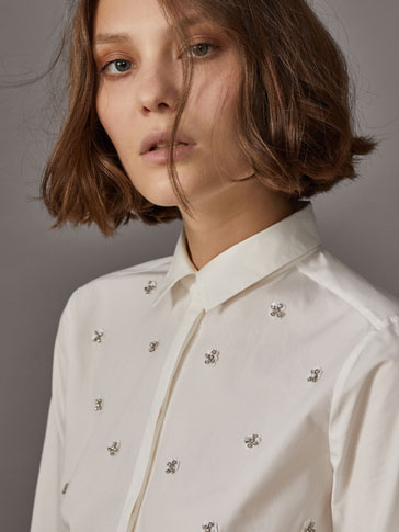 SHIRT EMBELLISHED WITH GEMS