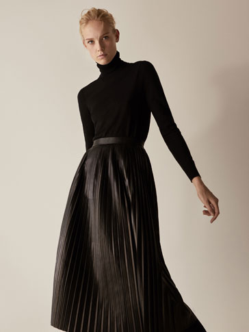 LIMITED EDITION PLEATED NAPPA SKIRT