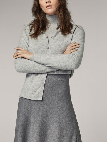 100% CASHMERE SOLID CARDIGAN