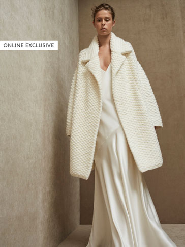 LIMITED EDITION OPEN COAT WITH TEXTURED WEAVE