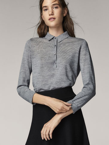 WOOL POLO-STYLE SWEATER