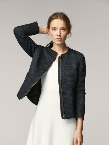 EMBELLISHED CARDIGAN WITH CONTRASTING TRIM