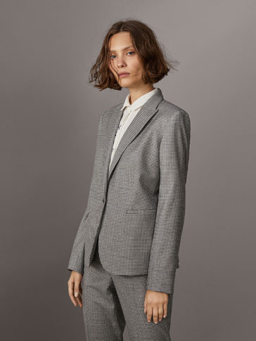 GREY GINGHAM SUIT BLAZER