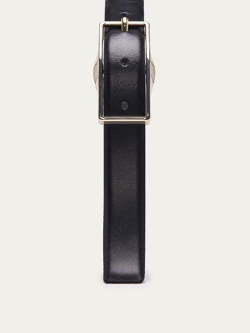 LEATHER BELT WITH RECTANGULAR DETAIL